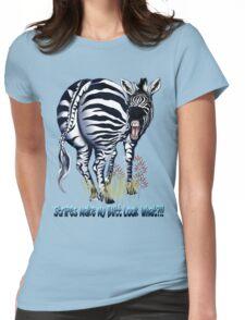 Zebra Fat Butt  Womens Fitted T-Shirt