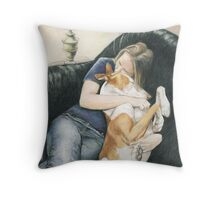 """""""Katie and Java"""" Throw Pillow"""