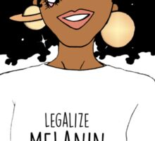 LEGALIZE MELANIN M (ABA) Sticker