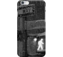NYC Snowy Street Sign iPhone Case/Skin