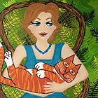 I Love My Ginger Cat by Lisa Frances Judd ~ QuirkyHappyArt