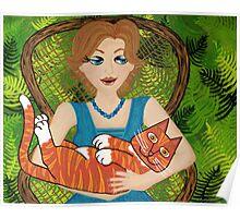 I Love My Ginger Cat Poster