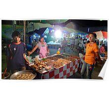 Thailand night bazaar Poster