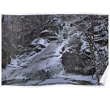 Dingmans Falls Winterscape Poster