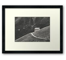 HILLSIDE HUT Framed Print