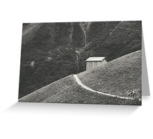 HILLSIDE HUT Greeting Card