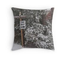 One Way @ 25 MPH Throw Pillow