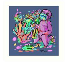 Barf Hands Art Print