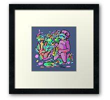 Barf Hands Framed Print