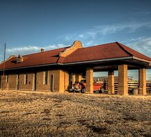The Depot at Roaring Springs by Terence Russell
