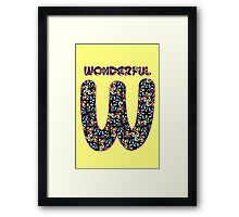 Alphabet - Wonderful W Framed Print