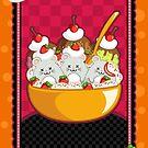 Mice Cream Sundae Kawaii Cards and Prints by BeataViscera