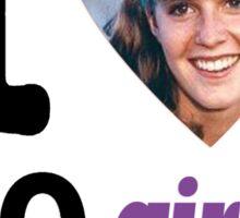 I Love 80's Girls! Sticker