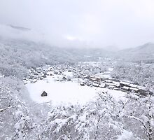 Shirakawa-go in white by Sam Ryan