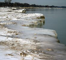 Lake Michigan's Frozen Shoreline by kkphoto1