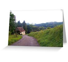 Solitary cottage in rural France Greeting Card