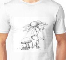 Mushroom and Sunflower Unisex T-Shirt