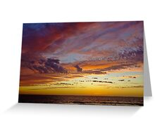 A different section of sky....... Ocean Reef, Perth, Western Australia Greeting Card