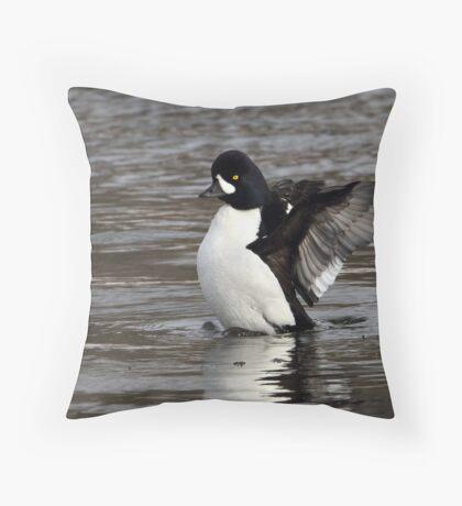 Rare Bird / Barrows Goldeneye Throw Pillow