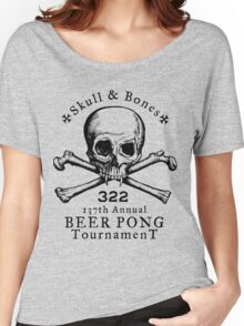 Skull & Bones Beer Pong Tournament Women's Relaxed Fit T-Shirt