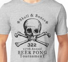 Skull & Bones Beer Pong Tournament Unisex T-Shirt