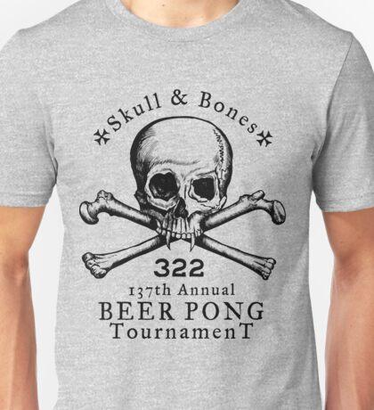 Skull & Bones Beer Pong Tournament Unisex T-Shirt