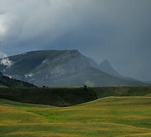 Storm on the Rocky Mountain Front, Montana by Donna Ridgway