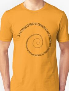 black pi spiral T-Shirt