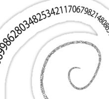 black pi spiral Sticker