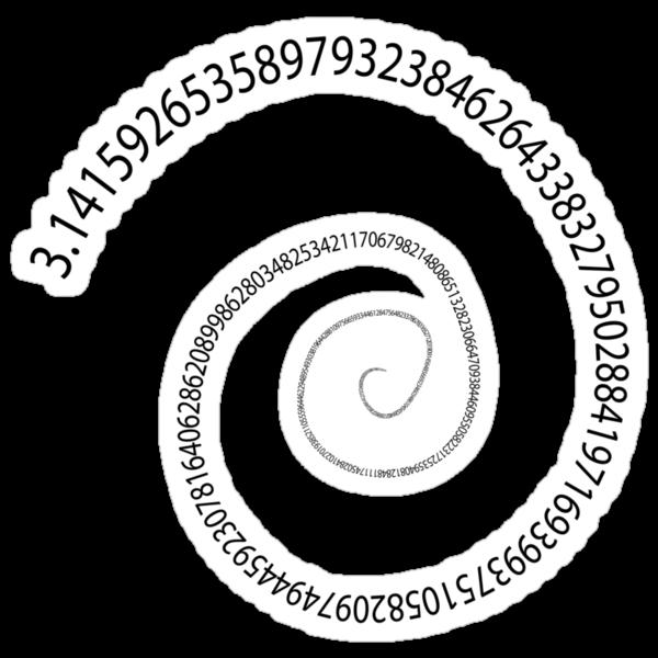 black pi spiral by sabrina card
