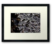 Frozen Rocks Framed Print