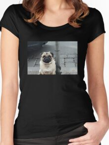 Adorable Pug Women's Fitted Scoop T-Shirt