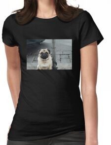 Adorable Pug Womens Fitted T-Shirt