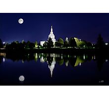Snake River Full Moon Reflection 20x30 Photographic Print
