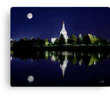 Idaho Falls Full Moon Reflection 20x24 Canvas Print