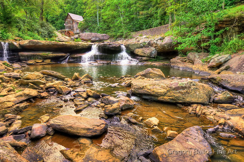 Glade Creek Mill - Wide Angle View by Gregory Ballos | gregoryballosphoto.com