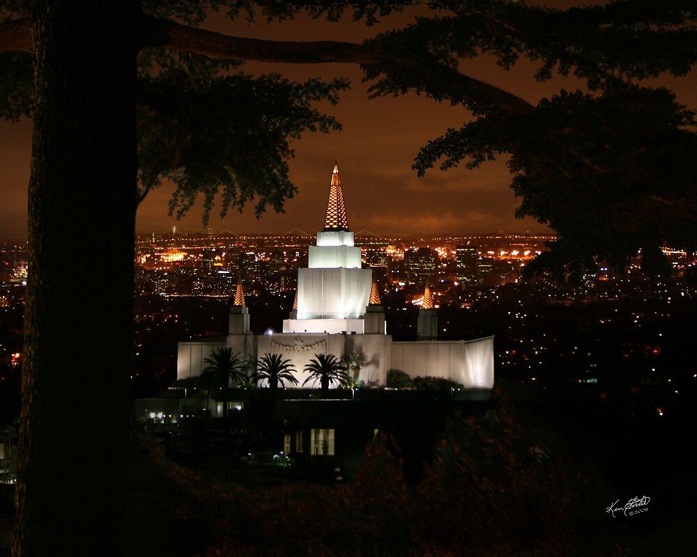 Oakland Temple City Lights 20x24 by Ken Fortie