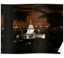 Oakland Temple City Lights 20x24 Poster