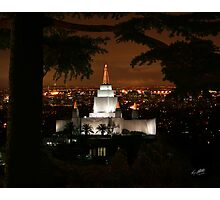 Oakland Temple City Lights 20x24 Photographic Print