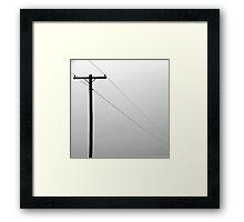 Telephone Pole Framed Print