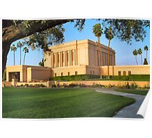 Evening at the Mesa Temple 20x30 Poster