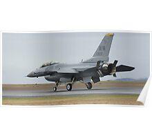 F-16 Landing Poster