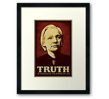 Julian Assange Truth Is Treason Framed Print