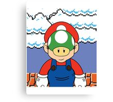 Son of Mario - René Mariogritte Canvas Print