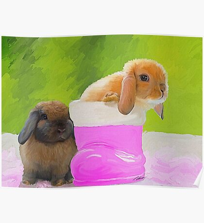 Mini Lop Bunnies Poster