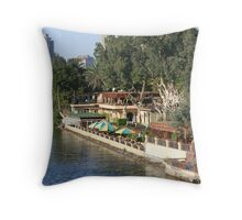 Along the Nile in Cairo Throw Pillow