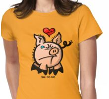 Broken Hearted Pig Womens Fitted T-Shirt