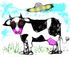 Scribble the Alien Cow by Diana-Lee Saville
