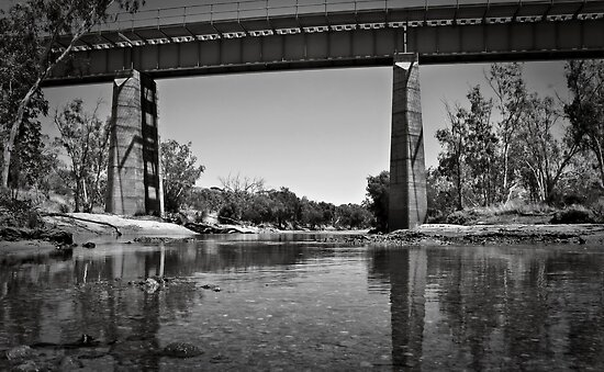 Erado Railway Bridge ~ Greenough River by Pene Stevens