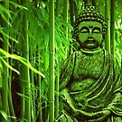 Bamboo with Buddha by Gabi Siebenhhner